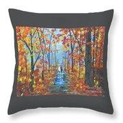 Fall Promenade  Throw Pillow