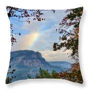 Fall Rainbow Throw Pillow