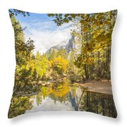 Fall Reflection In Yosemite Throw Pillow