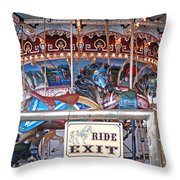 Fall River Ride Exit Throw Pillow
