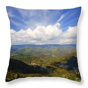 Fall Scene From North Fork Mountain Throw Pillow