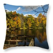 Fall Scene Throw Pillow