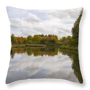 Fall Season By The Pond Throw Pillow