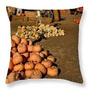 Fall Squash Throw Pillow