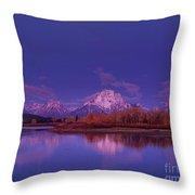 Fall Sunrise Grand Tetons National Park Wyoming Throw Pillow