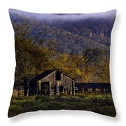 Fall Sunrise Old Barn At 21/43 Intersection Throw Pillow
