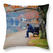Fall Thoughts Throw Pillow