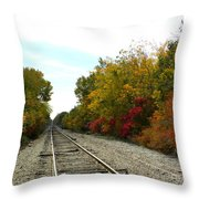 Fall Tracks Throw Pillow