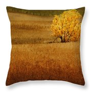 Fall Tree And Field #1 Throw Pillow