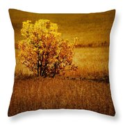 Fall Tree And Field #2 Throw Pillow