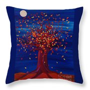Fall Tree Fantasy By Jrr Throw Pillow