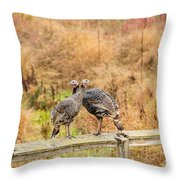 Fall Turkeys Throw Pillow