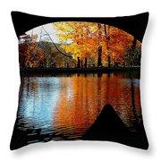 Fall Under The Bridge Throw Pillow
