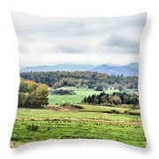 Fall Vermont Landscape Throw Pillow