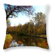 Fall Water Reflections Throw Pillow
