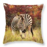 Fall Zebra Throw Pillow