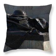 Fallen Artilleryman Throw Pillow