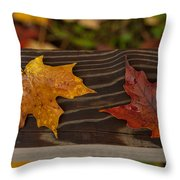 Fallen As If Placed Throw Pillow