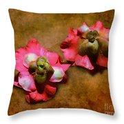 Fallen Blossoms Throw Pillow