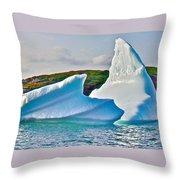 Fallen Clouds Iceberg Closeup In Saint Anthony Bay-newfoundland-canada  Throw Pillow