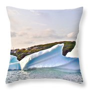 Fallen Clouds Icebergs In Saint Anthony Bay-newfoundland-canada  Throw Pillow