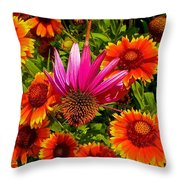 Fallen Coneflower Throw Pillow