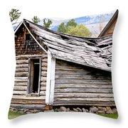 Fallen Homestead Throw Pillow