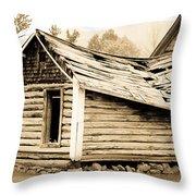 Fallen Homestead II Throw Pillow