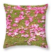 Fallen Rhododendron Throw Pillow