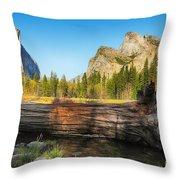 Fallen Tree In Yosemite Throw Pillow