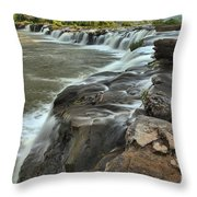 Falling Across The New River Throw Pillow