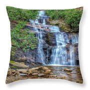 Falling From Mount Mitchell Throw Pillow
