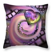 Falling In Love - Valentine Card / Poster Throw Pillow by Roger Snyder