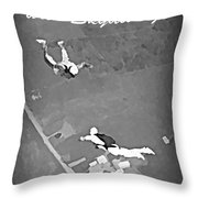 Falling In Love With Skydiving Throw Pillow