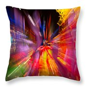 Falling Into Glass Throw Pillow