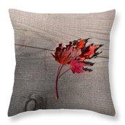 Falling Leaf Throw Pillow
