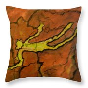 Falling Man Rock Art Throw Pillow