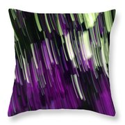 Falling Purple Throw Pillow