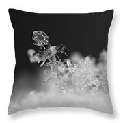 Falling Snowman Throw Pillow
