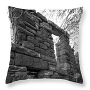 Falling Wall Jerome Black And White Throw Pillow