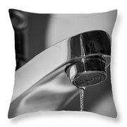 Falling Water Drop Throw Pillow