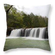 Falling Water Falls Throw Pillow