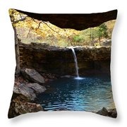 Falling Water View Throw Pillow