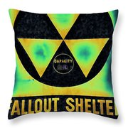 Fallout Shelter Abstract 2 Throw Pillow