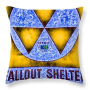 Fallout Shelter Abstract 4 Throw Pillow