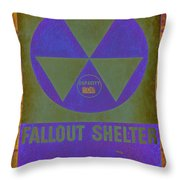 Fallout Shelter Abstract Throw Pillow