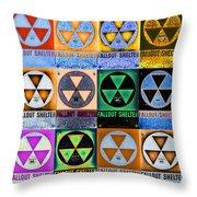 Fallout Shelter Mosaic Throw Pillow
