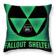Fallout Shelter Wall 1 Throw Pillow