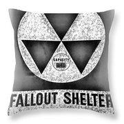 Fallout Shelter Wall 10 Throw Pillow
