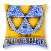 Fallout Shelter Wall 3 Throw Pillow